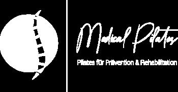 Medical Pilates Logo in weiß